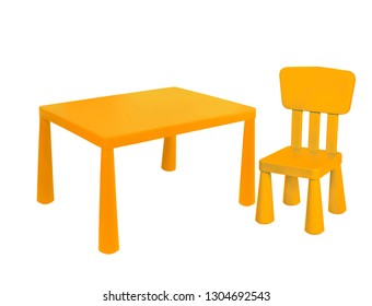 table and chair for chlid