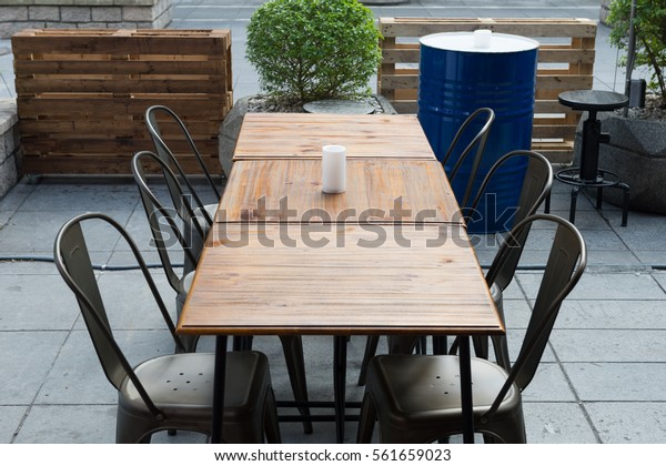 Table and Chair of Coffee Cafe