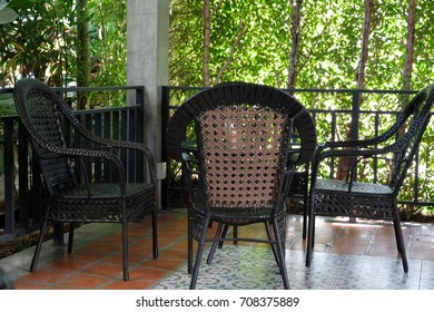 Table chair in Garden