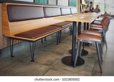 table and chair at restaurant ,Bangkok,Thailand
