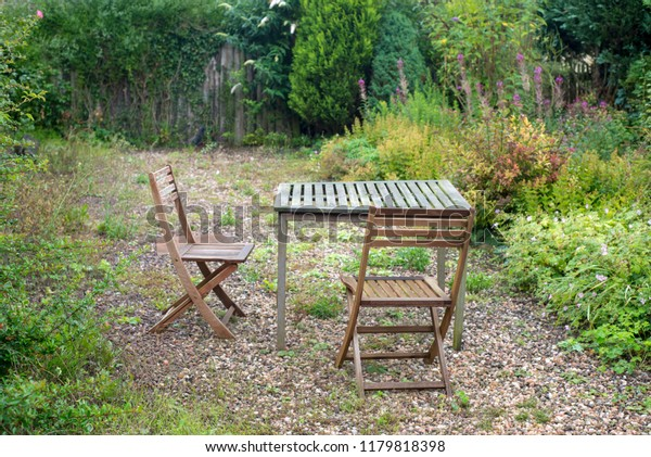 Table Chairs Country Cottage Garden Stock Photo Edit Now 1179818398