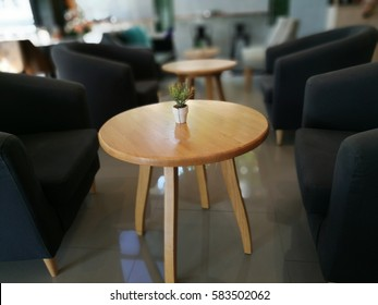 Table and chairs in the restaurant and coffee shop bure background