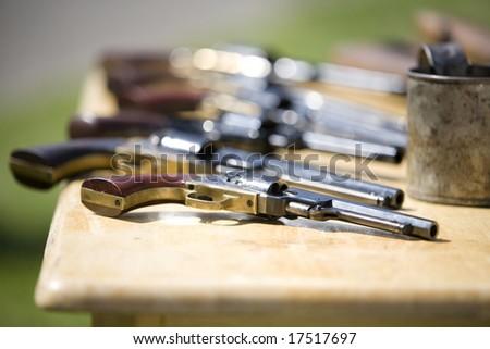 Table Civil War Era Revolvers Stock Photo (Edit Now