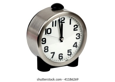 table clock isolated on white clipping path included
