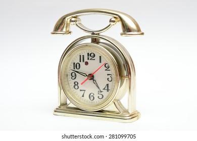 table clock as a phone