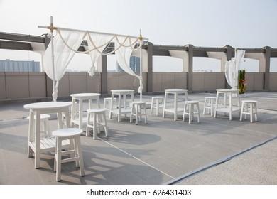 Table cloth chair white
