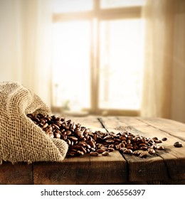 table of coffee and sack