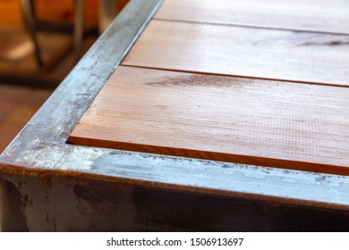 Table corner background. Rustic or Loft style table corner background for mixed media photos.