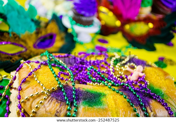 Table Decorated Mardi Gras Party Stock Photo Edit Now