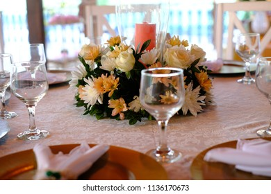 Table decoration for dinner