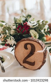 Table decoration with number