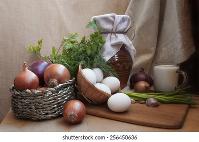 Table filled with different types of Health  natural food