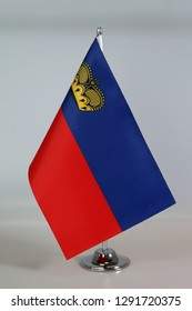 Table Flag of Liechtenstein, Flagpole.