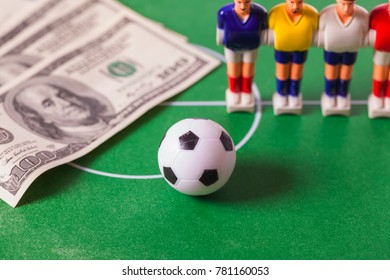 table football and 100 US dollars