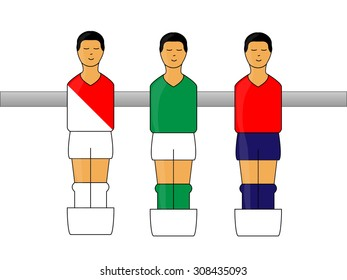 Table Football Figures with French League Uniforms 2