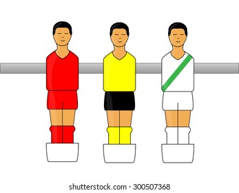 Table Football Figures with German League Uniforms 1