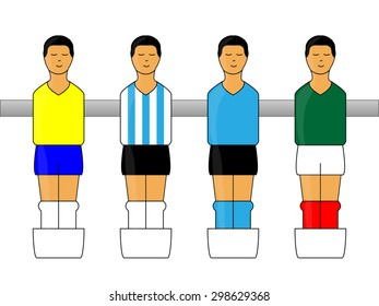 Table Football Figures with Latin American Uniforms 1