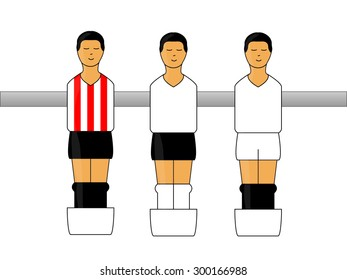 Table Football Figures with Spanish League Uniforms 2