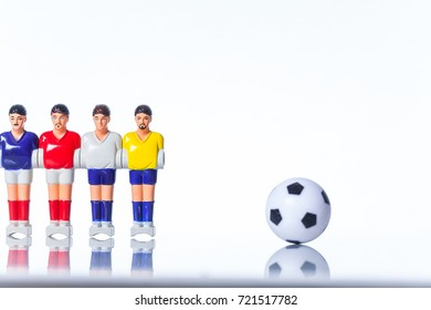 Table football . foosball on a white background