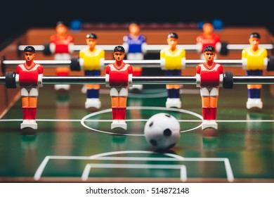 table football (foosball) soccer game, aka kicker