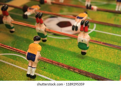 table football game with mexican players