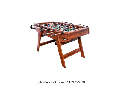 Table football isolated on white. Soccer table isolated