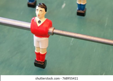 table football soccer game with blue and red player