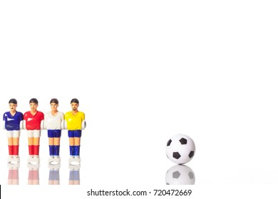 Table football .soccer players ball