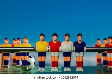 table football team plastic players
