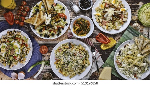The Table Full Of Salads