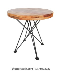 table isolated on white background. Details of modern, scandinavian and minimal style . eco design interior