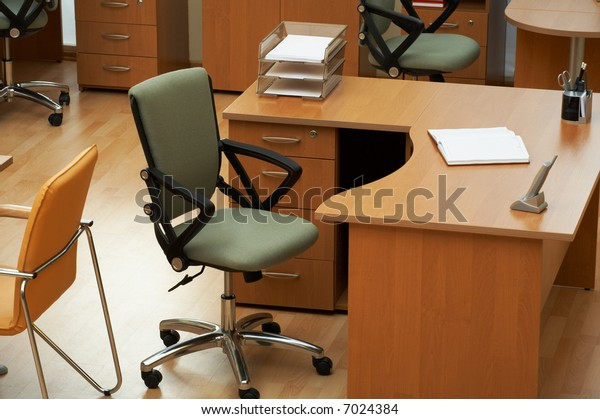 Table for the manager at modern office