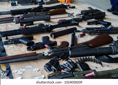 A table of miscellaneous firearms