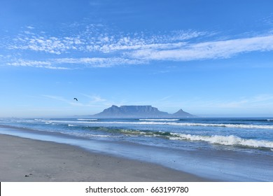 Table Mountain from Dolphin Beach in Bloubergstrand
