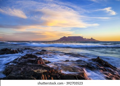 Table Mountain at Sunset, South Africa
