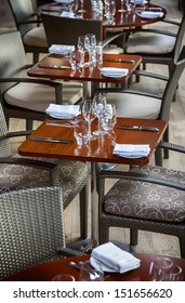 table in new stylish restaurant