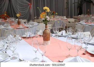 Table Orange Flower