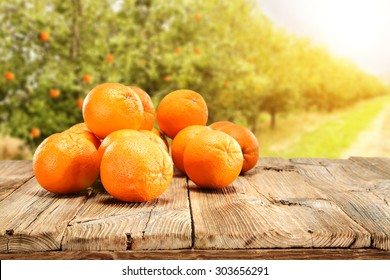 table and orange fruits to your decoration