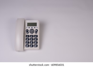 Table phone on white background