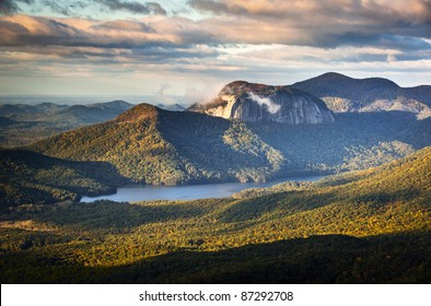 Table Rock State Park South Carolina Blue Ridge Mountains Landscape sunrise morning scenic photography