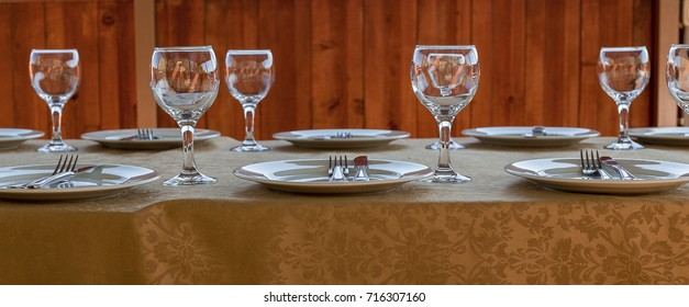 Table served for banquet