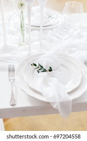 A table served in white colors
