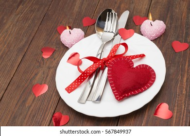 Romantic Dinner Concept Festive Table Setting Stock Photo Edit Now