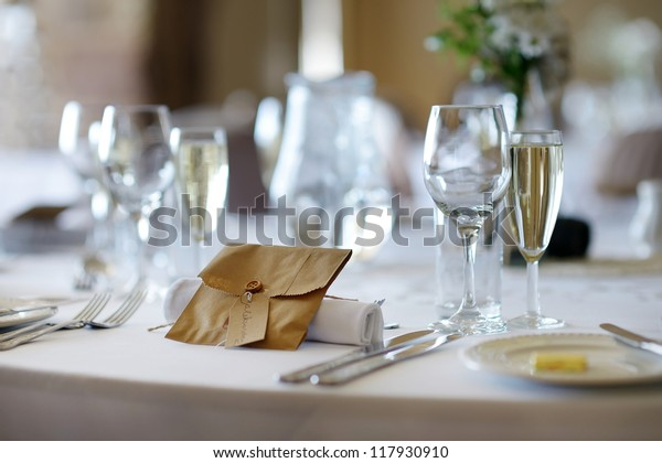 Table Set Event Party Wedding Reception Stock Photo (Edit Now ...
