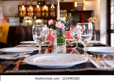 table set up for luxury celebration party