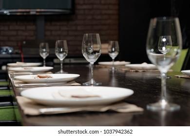 Table set for official dinner