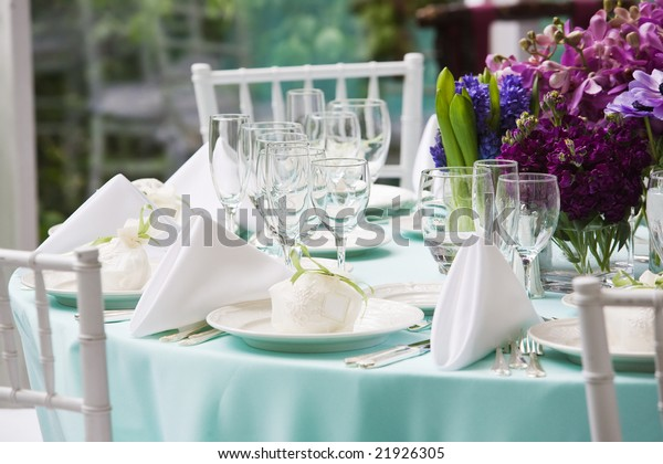 Table set for a special event