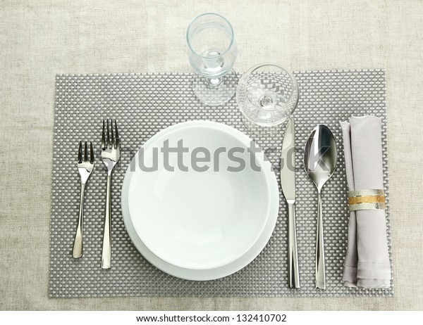 Table setting, close up