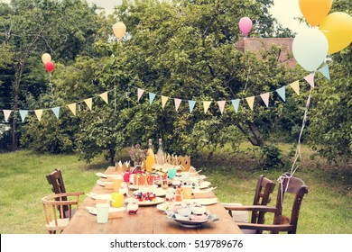 Table Setting Food Celebration Party Concept