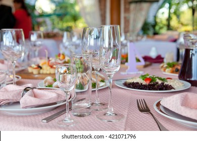 table setting for the gala dinner